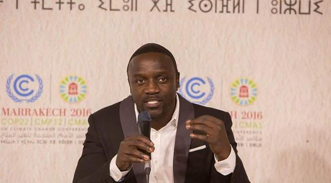 Climate Change: Celebrated Singer AKON Makes Strong Case For Africa