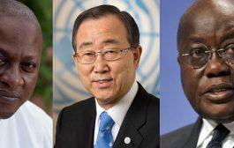 Ban Ki-Moon calls Mahama, Akufo-Addo over Ghana's stabilty