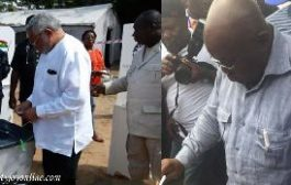 Rawlings leaves everything to God; Akufo-Addo prays