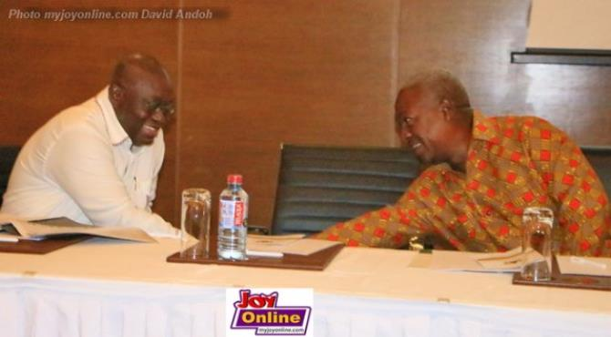 Photo of the week: Mahama, Akufo-Addo trade jabs and then trade smiles