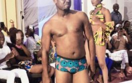 Abeiku Santana catwalks at African Bikini Fashion Show [Photos]