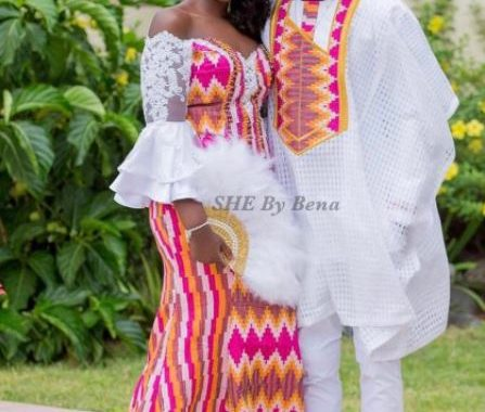 Wedding inspiration: Check out who designed Stonebwoy's wife's outfit
