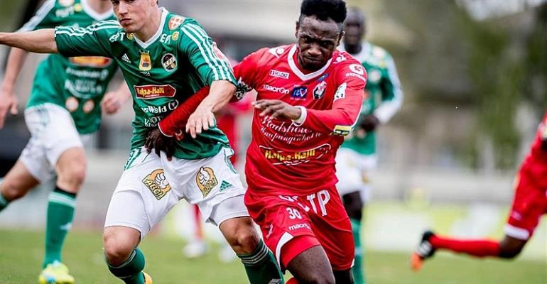 Ghanaian forward Seth Paintsil on target for FF Jaro in big win over AC Oulu