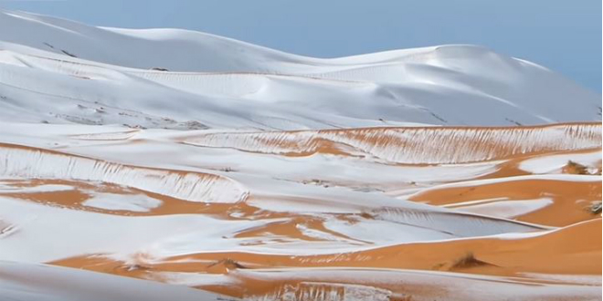Isaiah's Prophecy Appears in Sahara as Snow Falls in World's Hottest Desert [WATCH]