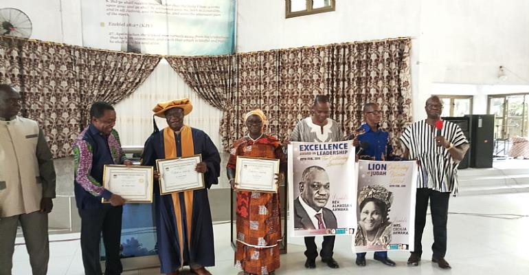 United AG Rev. Alhassan Akwaka, Wife Honoured With Doctorate Degree