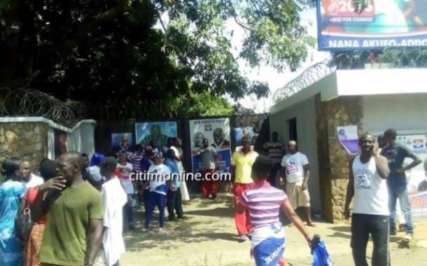 Nana Addo's Residence Declared National Security Zone, Traders Around Asked To Vacate