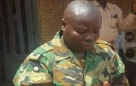 Kasoa: Soldier Turned Landguard Slaps Chief Inspector