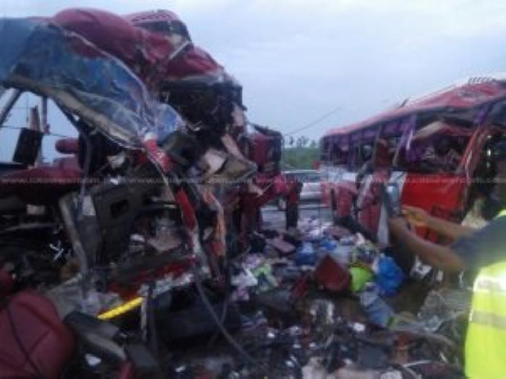 Accident Involving Two Buses Kills 10 People At Suhum