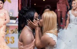 Tonto Dikeh, Bobrisky Set Social Media On Fire After Kissing Photo