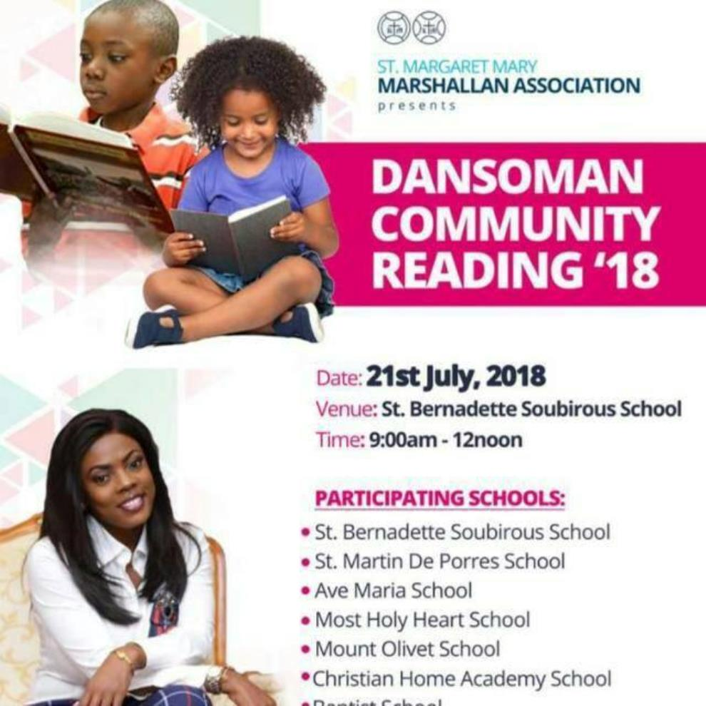 'Dansoman Community Reading'18' Comes Off Saturday, June 21