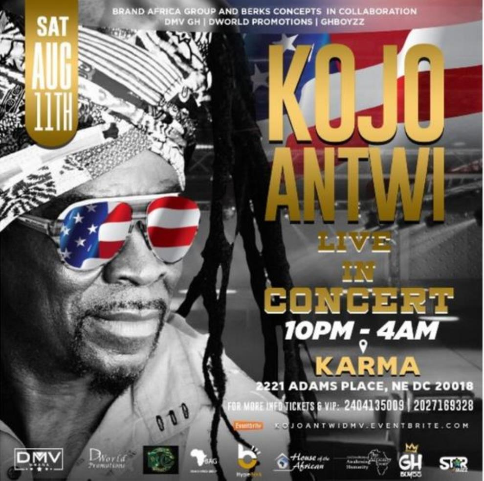 Music Legend Kojo Antwi To Rock Audience In US August 11