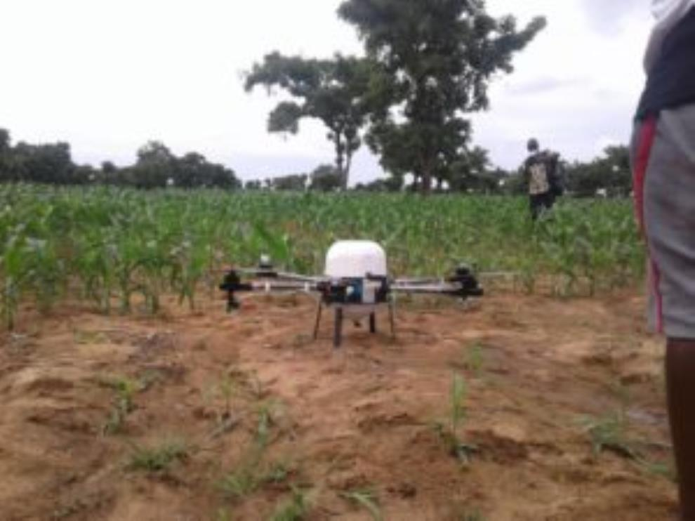 Farmers Resort To Drones To Monitor And Fight Fall Armyworms