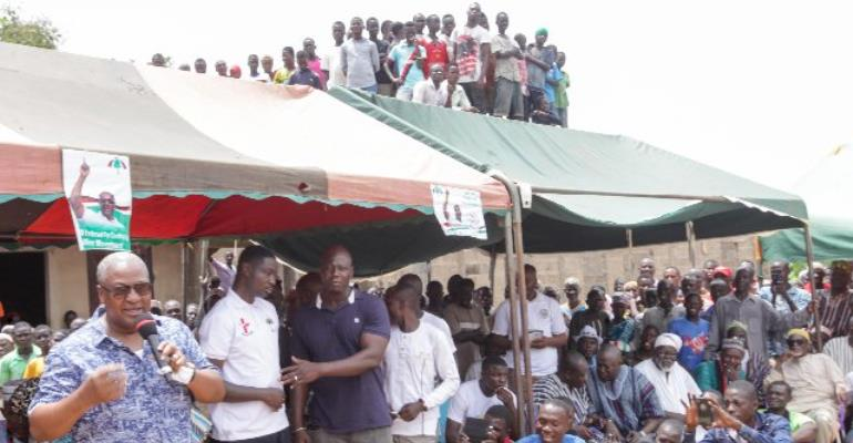 Mahama Says NPP Worried About His Comeback
