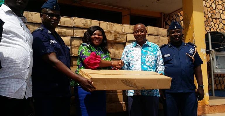 Madina MP Boniface Donates Streetlights To Assembly