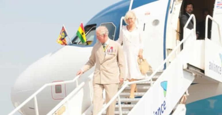 Historic! As British Royals Arrive In Accra