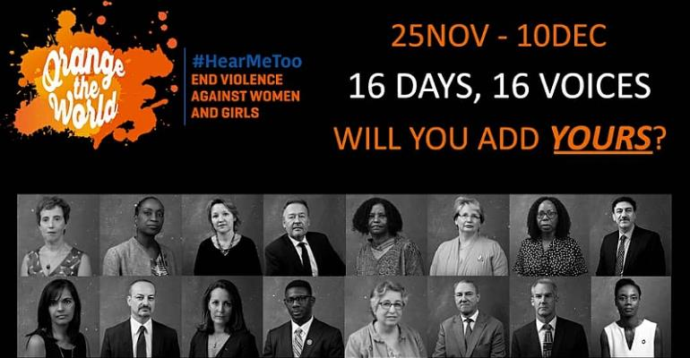 16 Heads Of UN Agencies and Diplomatic Missions Embark On Social Media Campaign Calling For An End To Gender-Based Violence In Ghana