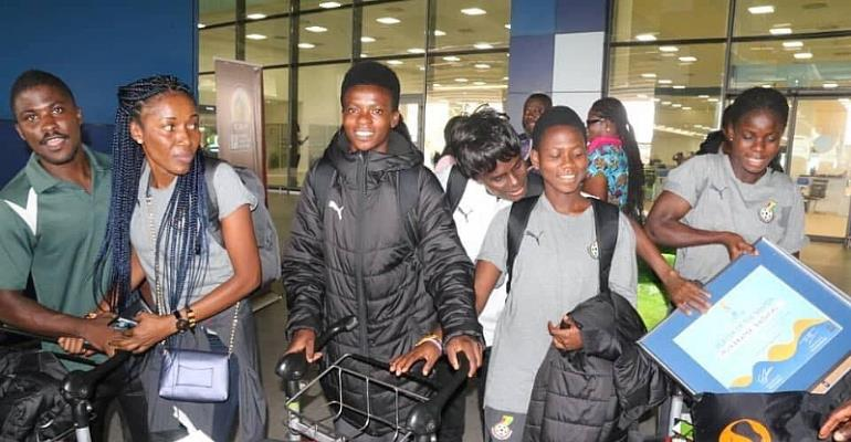 Black Maidens Arrive In Ghana After World Cup Exit [PHOTOS]