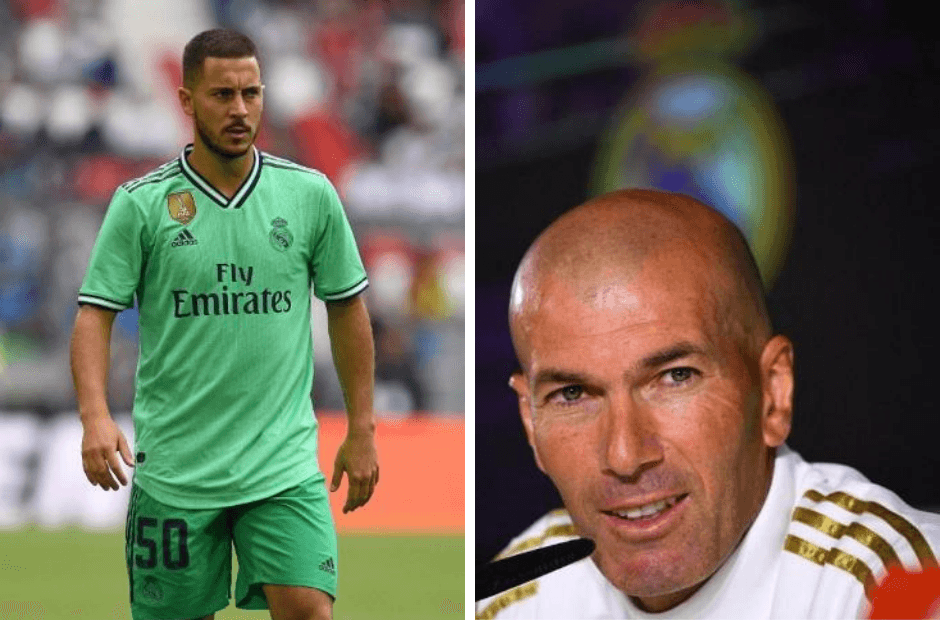 Eden Hazard is ready for his debut with Real Madrid, says coach Zinedine Zidane