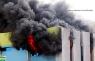 Photos of GRA Head Office Annex on fire