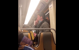 Footage of man smearing saliva on Brussels metro goes viral