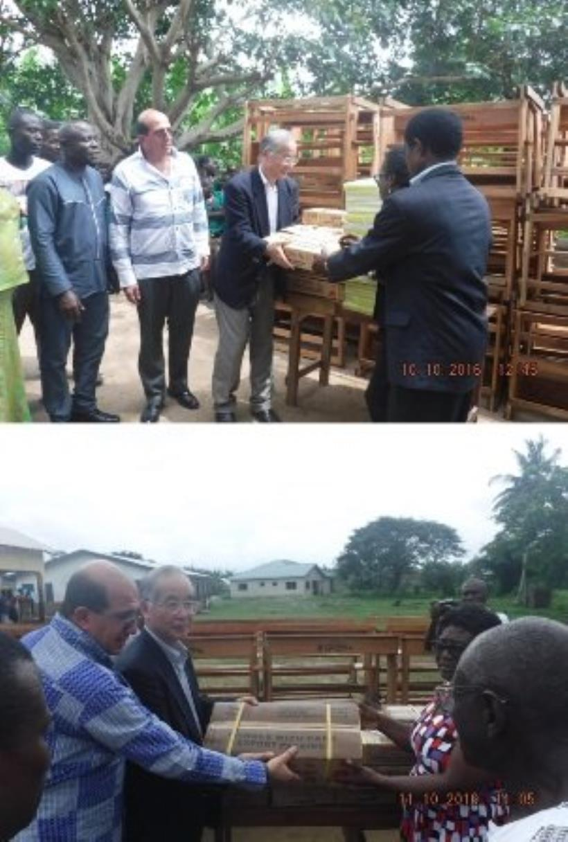 Forewin Ghana and JFE foods donate to schools  By GNA