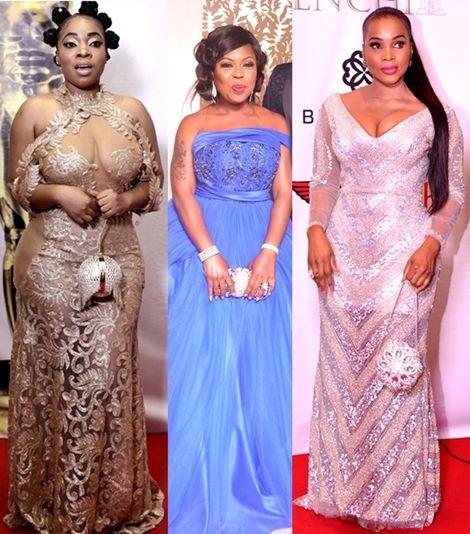 XCLUSIV FOTOS: Female Celebs Fashion At Ghana Movie Awards 2016