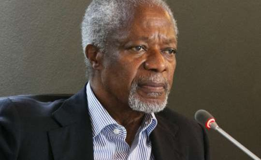 Reject violence, vote for Ghana - Kofi Annan