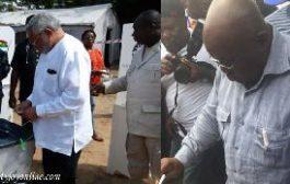 Rawlings leaves everything to God; Akufo-Addo prays
