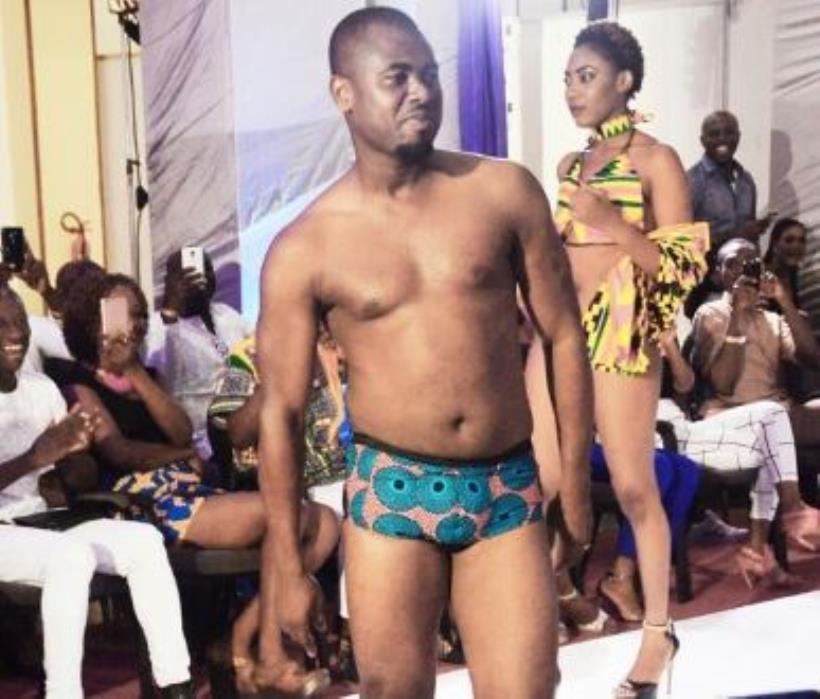 Abeiku Santana catwalks at African Bikini Fashion Show [Photos]