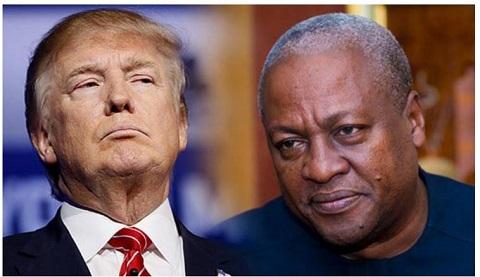 Mahama criticises Donald Trump
