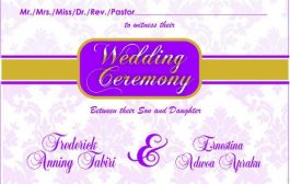 Wedding Ceremony  13th MAY 2017  AT SUNYANI  10 am