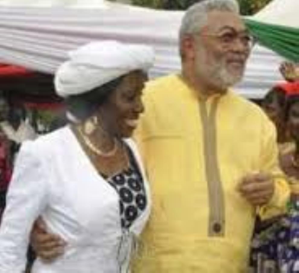 Rawlings, Nana Konadu greet Muslims