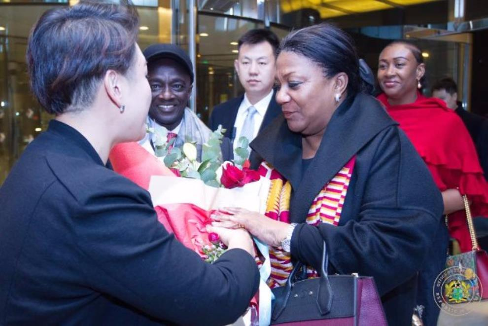 Ghana's First Lady Arrives In China