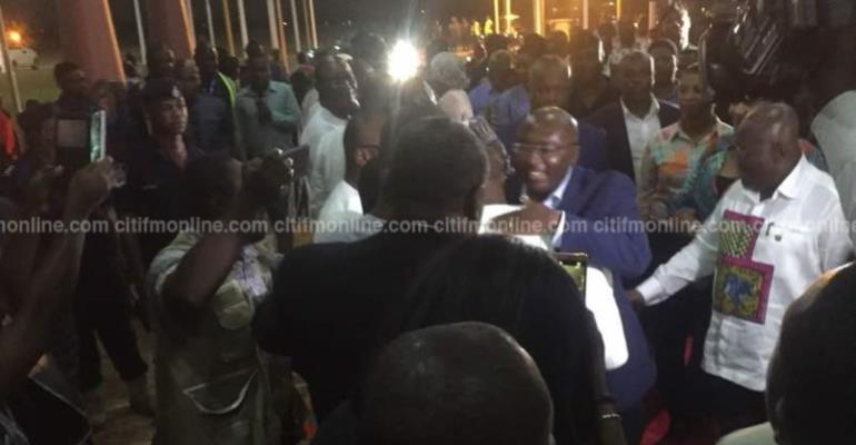 Rousing Welcome For Bawumia As He Arrived In Accra