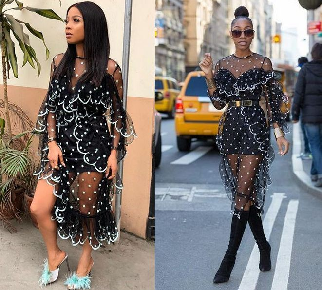Who Wore It Better? Toke Makinwa VS Chinyere Adogu in Alice McCall