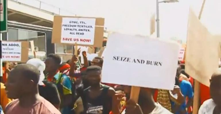 Seize And Burn Pirated Goods; Textile Workers To Gov't
