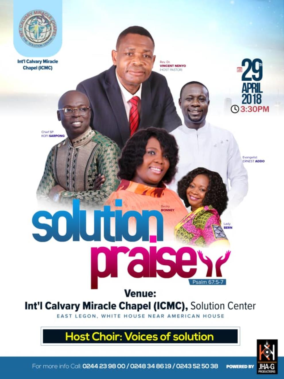 Kofi Sarpong, Becky Bonney, Others Headline 'Solution Praise' On Sunday