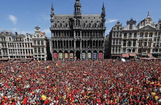 40,000 supporters welcome the Red Devils back to Brussels