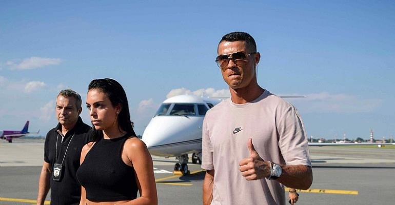 Cristiano Ronaldo Arrives In Turin For Juventus Medical