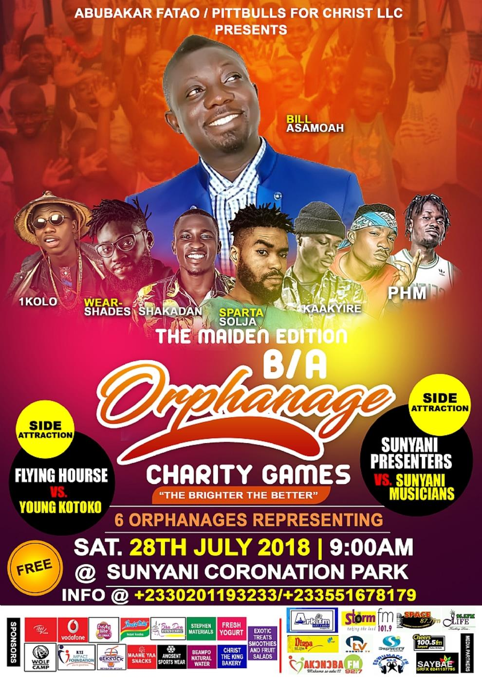 Sunyani: Maiden B/A Orphanage Charity Games To Be Held On Saturday