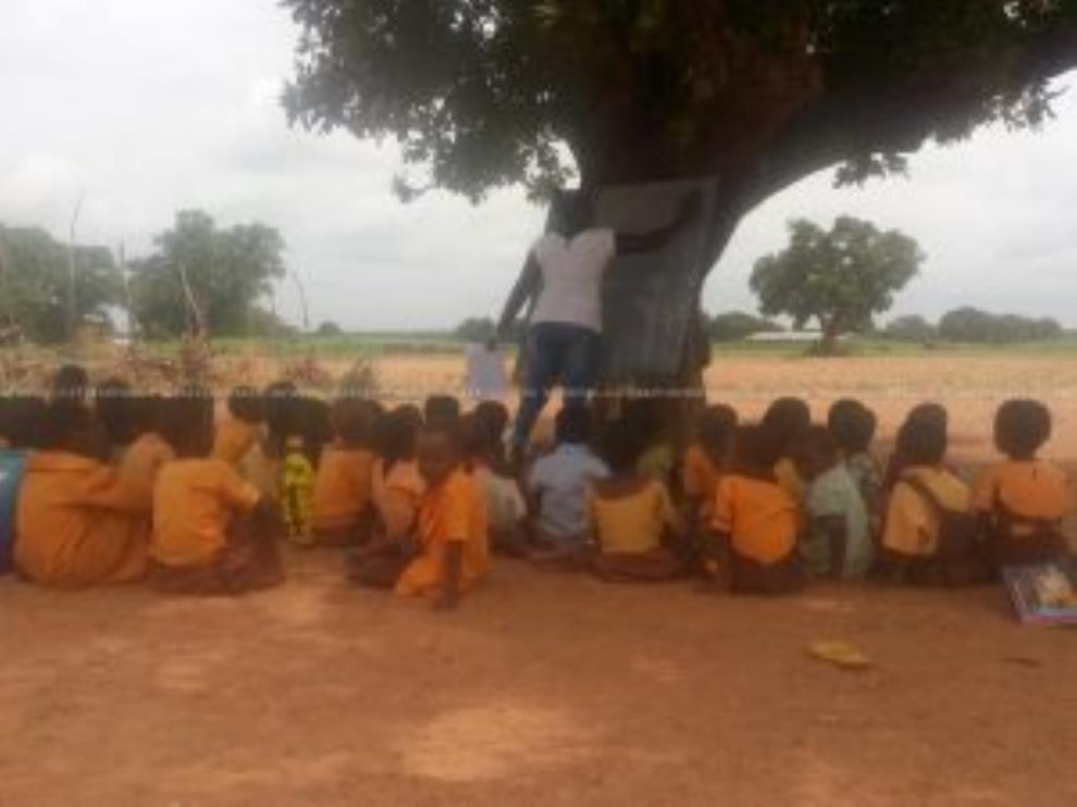 Classes Under Trees, Open Defecation; Life At Teong Basic School