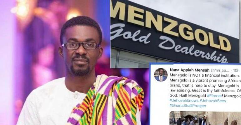 """Nana Appiah Mensah (NAM1) Reacts To Finance Minister's claim:"""" Menzgold is here to Stay"""""""