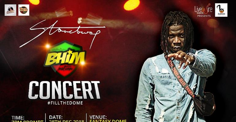 Stonebwoy Fill The Dome Concert Set For 28th December