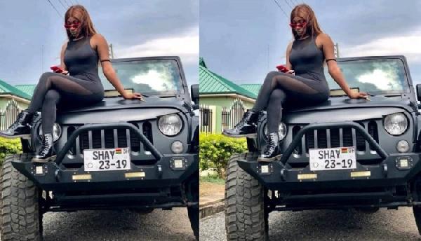 Wendy Shay flaunts her newly customized Jeep Wrangler