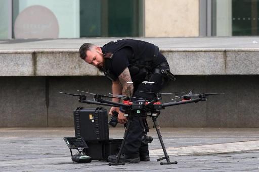 Drones provide backup for Brussels police