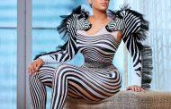 MTN 4Syte Music Video Awards: Haillie Sumney Turns Heads With Zebra Dress