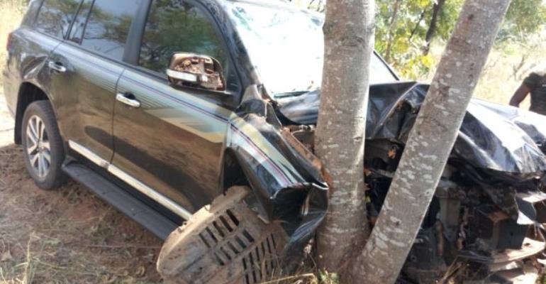 Abu Jinapor Involved In Car Crash At Busunu