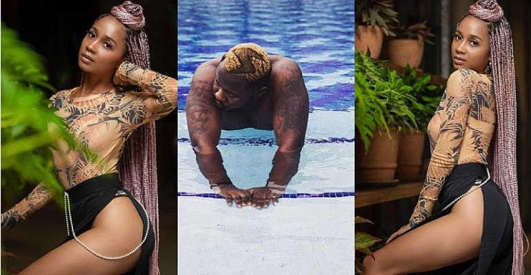 Sister Derby Teases Medikal Again As She flaunts Her Sexy Thighs In New Photos