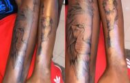 Fella Makafui Gets Her First Tattoo And It's A Half Face Lioness [Photos]