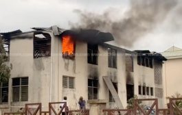 Fire Service Rush Back To EC's Accra Office After Fire Sparked Again